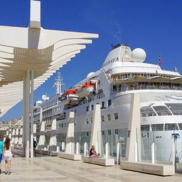 El puerto marítimo de Málaga