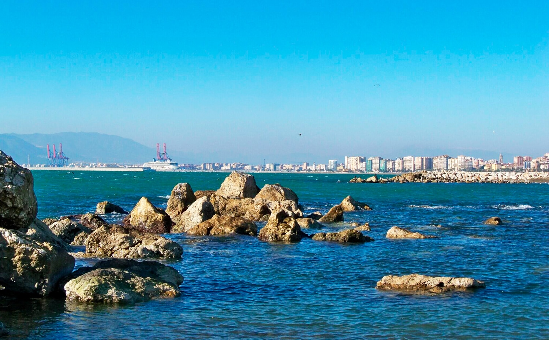 Rocas Playa Pedregalejo Málaga