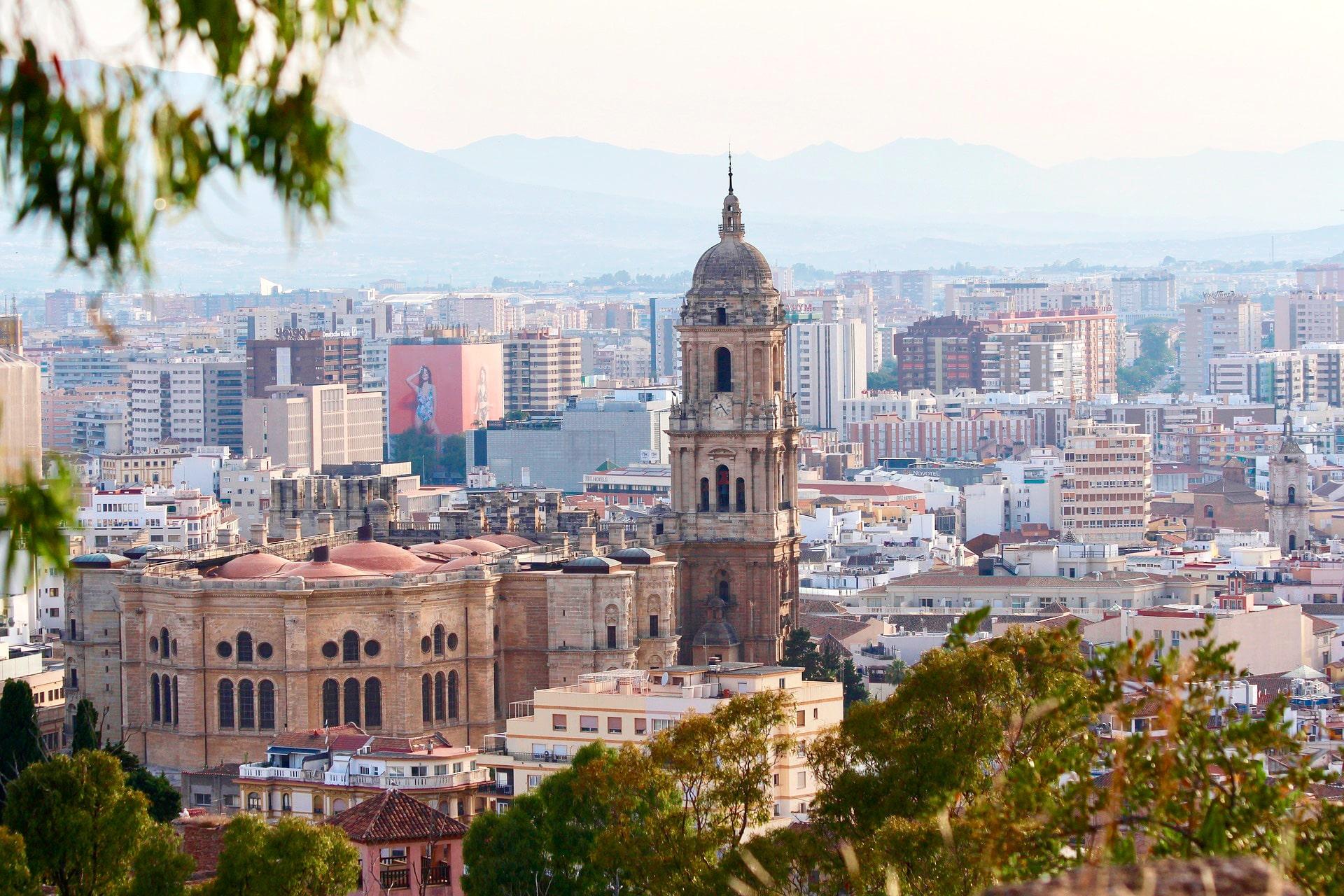 vista aérea catedral de Málaga