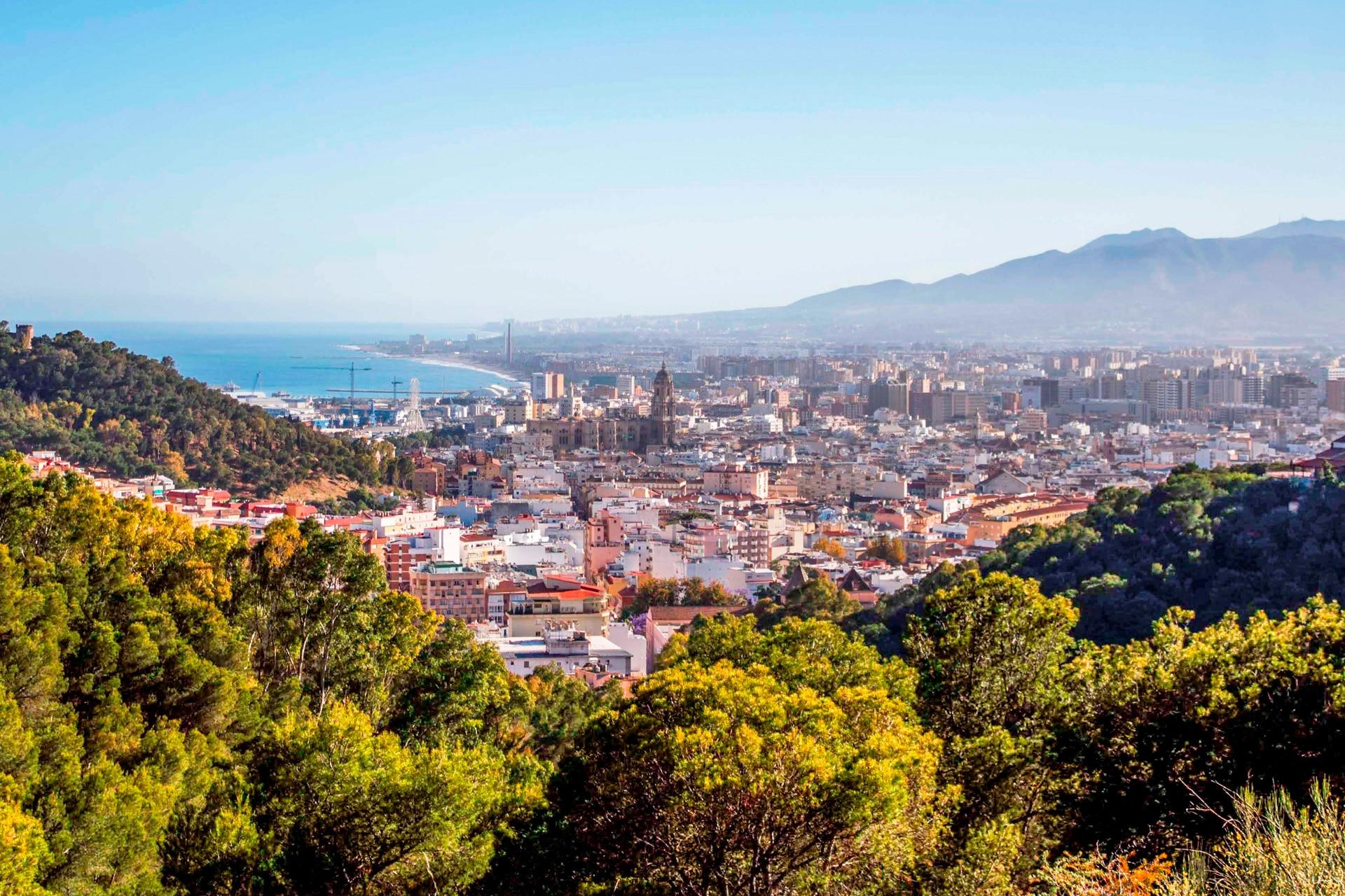 vista aérea de Málaga