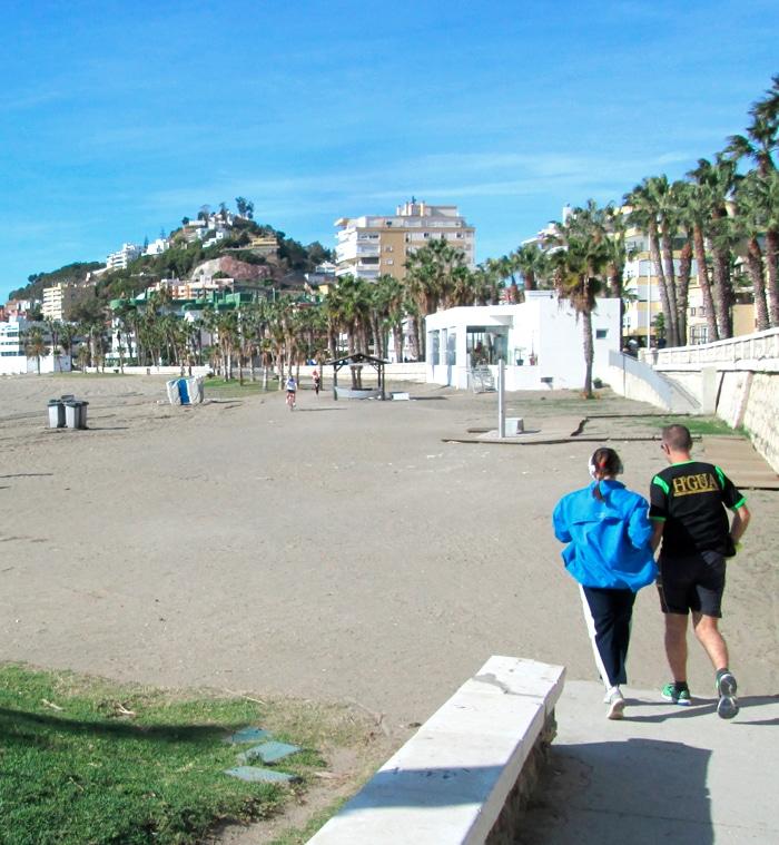 playa caleta Málaga